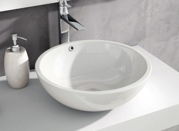 Garbo lavabo cerámico sobrepuesto blanco / negro